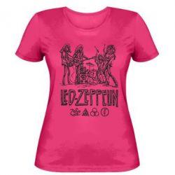Женская футболка Led-Zeppelin Art