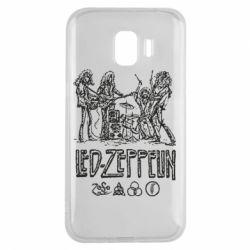 Чехол для Samsung J2 2018 Led-Zeppelin Art