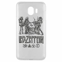 Чехол для Samsung J4 Led-Zeppelin Art