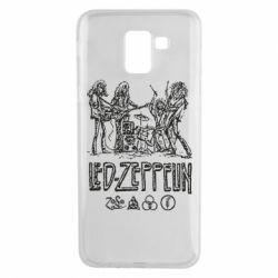 Чехол для Samsung J6 Led-Zeppelin Art
