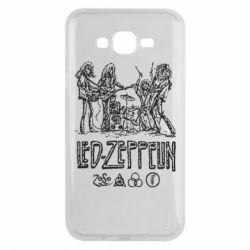 Чехол для Samsung J7 2015 Led-Zeppelin Art