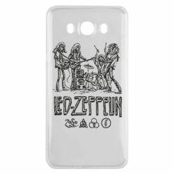Чехол для Samsung J7 2016 Led-Zeppelin Art