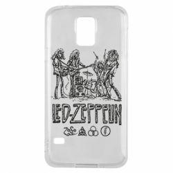 Чехол для Samsung S5 Led-Zeppelin Art