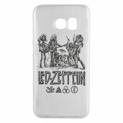 Чехол для Samsung S6 EDGE Led-Zeppelin Art