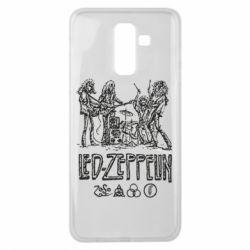 Чехол для Samsung J8 2018 Led-Zeppelin Art