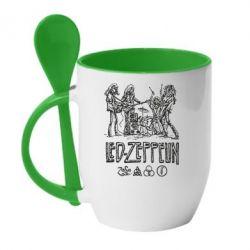 Кружка с керамической ложкой Led-Zeppelin Art