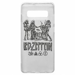Чехол для Samsung S10+ Led-Zeppelin Art