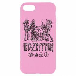 Чехол для iPhone 7 Led-Zeppelin Art
