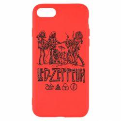 Чехол для iPhone 8 Led-Zeppelin Art