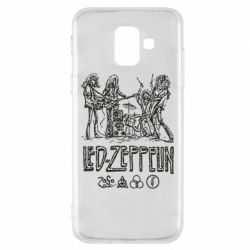 Купить Led Zeppelin, Чехол для Samsung A6 2018 Led-Zeppelin Art, FatLine
