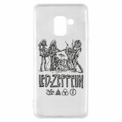 Чехол для Samsung A8 2018 Led-Zeppelin Art