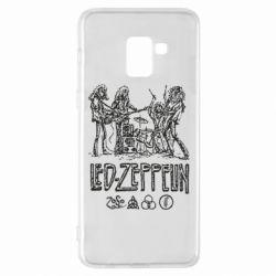 Чехол для Samsung A8+ 2018 Led-Zeppelin Art