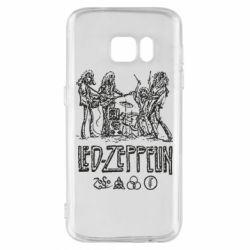 Чехол для Samsung S7 Led-Zeppelin Art