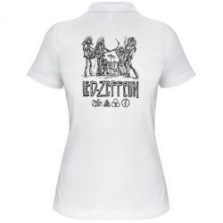 Женская футболка поло Led-Zeppelin Art