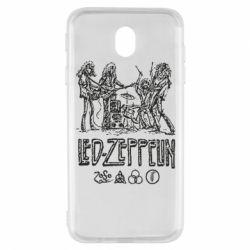 Чехол для Samsung J7 2017 Led-Zeppelin Art