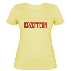 Женская футболка Led Zeppelin - FatLine