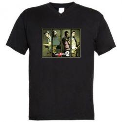 Мужская футболка  с V-образным вырезом Left 4 Dead 2 - FatLine