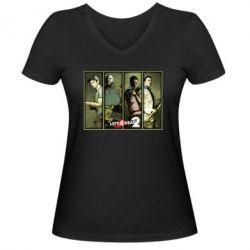 Женская футболка с V-образным вырезом Left 4 Dead 2 - FatLine