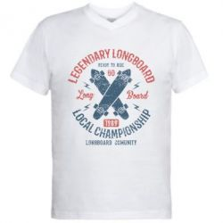 Чоловіча футболка з V-подібним вирізом Legendary Longboard