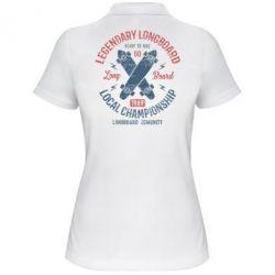 Жіноча футболка поло Legendary Longboard