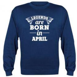 Купить Реглан (свитшот) Legends are born in April, FatLine