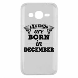 Чехол для Samsung J2 2015 Legends are born in December