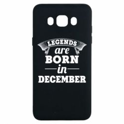 Чехол для Samsung J7 2016 Legends are born in December