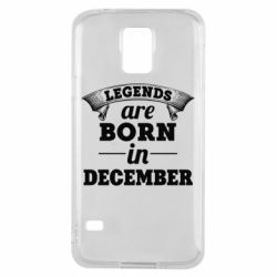 Чехол для Samsung S5 Legends are born in December