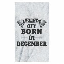 Полотенце Legends are born in December