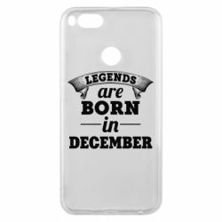 Чехол для Xiaomi Mi A1 Legends are born in December