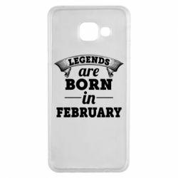 Чехол для Samsung A3 2016 Legends are born in February