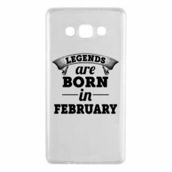 Чехол для Samsung A7 2015 Legends are born in February