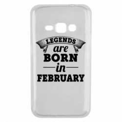 Чехол для Samsung J1 2016 Legends are born in February