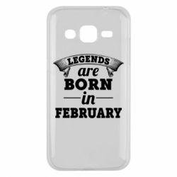 Чехол для Samsung J2 2015 Legends are born in February