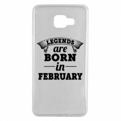 Чехол для Samsung A7 2016 Legends are born in February