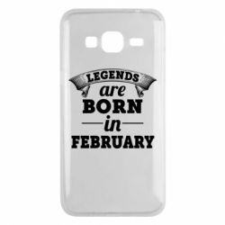 Чехол для Samsung J3 2016 Legends are born in February
