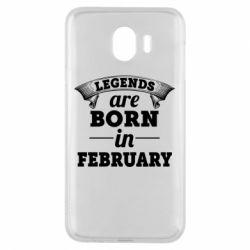 Чехол для Samsung J4 Legends are born in February