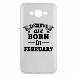 Чехол для Samsung J7 2015 Legends are born in February