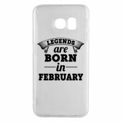 Чехол для Samsung S6 EDGE Legends are born in February