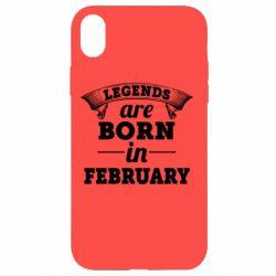 Чехол для iPhone XR Legends are born in February
