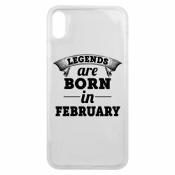 Чехол для iPhone Xs Max Legends are born in February