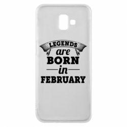 Чехол для Samsung J6 Plus 2018 Legends are born in February