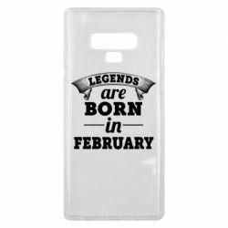 Чехол для Samsung Note 9 Legends are born in February