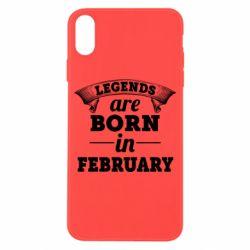 Чехол для iPhone X/Xs Legends are born in February