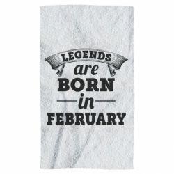 Полотенце Legends are born in February