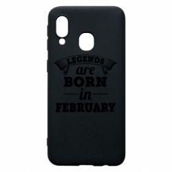 Чехол для Samsung A40 Legends are born in February