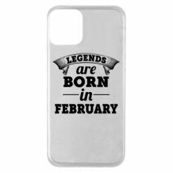 Чехол для iPhone 11 Legends are born in February