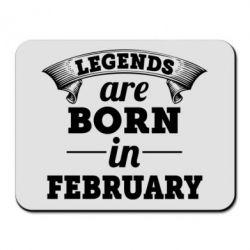 Коврик для мыши Legends are born in February