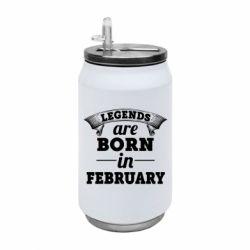 Термобанка 350ml Legends are born in February