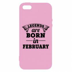 Чехол для iPhone5/5S/SE Legends are born in February